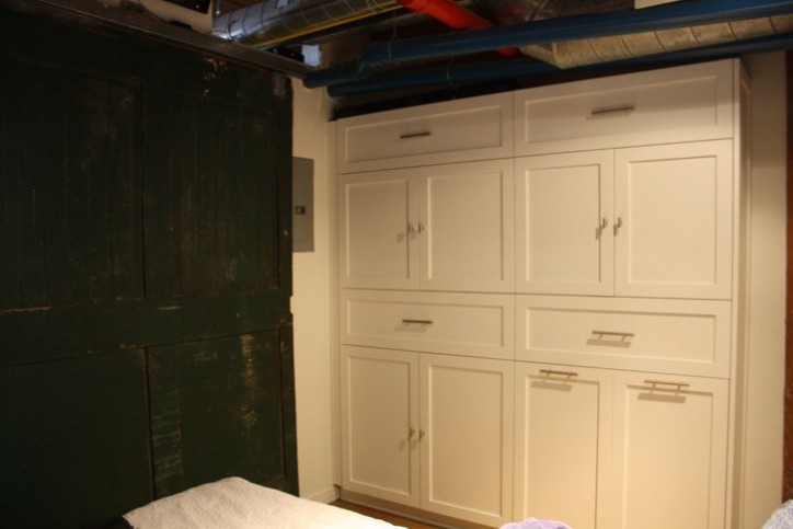 bedroom closet cabinetry in loft