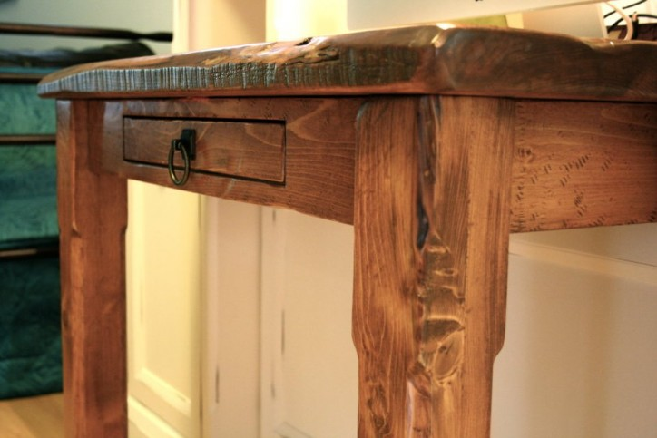 rustic wood desk top