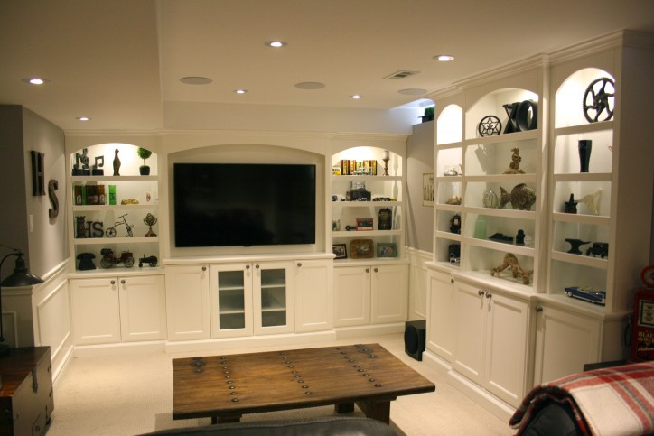 arched entertainment wall unit