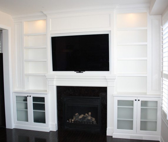 fireplace entertainment unit with lighting1