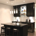 custom bar maple cabinets