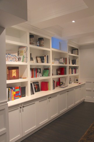 bookshelves cabinets below