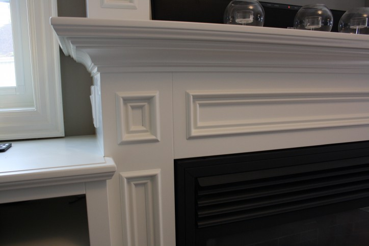 fireplace mantle detail