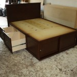 custom maple bed with storage