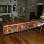 reclaimed wood metal bar