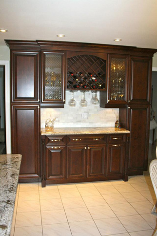 traditional dark raised panel kitchen 3