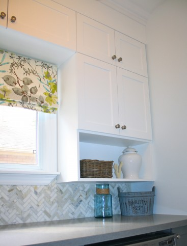 two tone laundry cabinetry